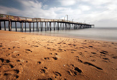 Art Print featuring the photograph Nags Head Fishing Pier by Chris Babcock
