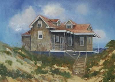 Nag Painting - Nags Head Nc Beach Cottage by Lisa Godfrey