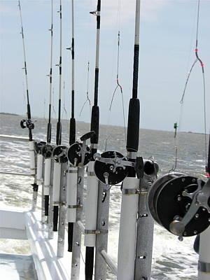 Photograph - Nags Head Nc Fishing Poles by Brett Winn