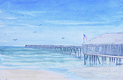 Painting - Nags Head Pier by Anne Marie Brown