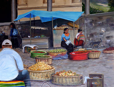 Painting - Naguale Plaza by Helen Albritton