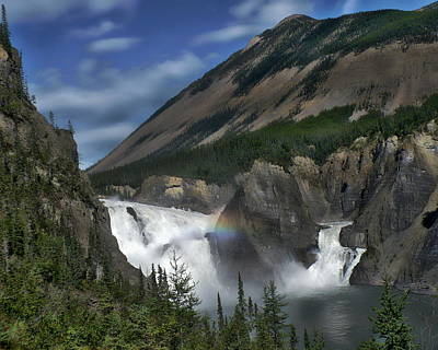 Digital Art - Nahanni National Park And Falls by Anthony Dezenzio