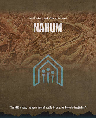 Nahum Books Of The Bible Series Old Testament Minimal Poster Art Number 34 Art Print