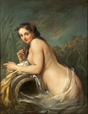 Naiad Painting - Naiad by Charles-Andre van Loo