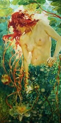 Naiad Painting - Naiad by Oksana Zhelisko