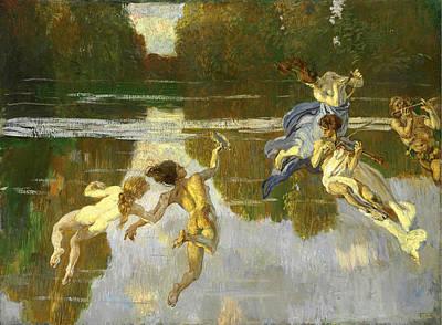 Naiad Painting - Naiads by Ettore Tito