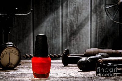 Red Nail Polish Photograph - Nail Polish by Olivier Le Queinec