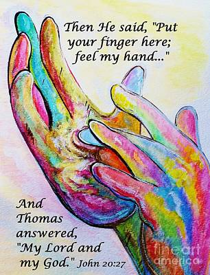 Bible Painting - Nail Prints In His Hands by Eloise Schneider