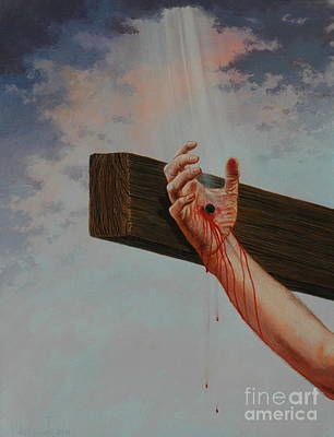 Painting - Nailed To His Cross by Michael Nowak