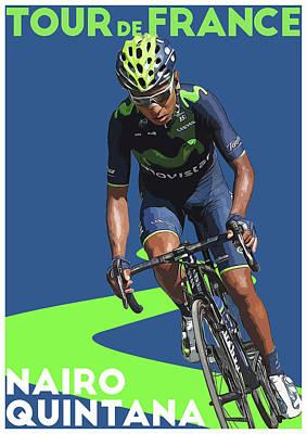 Giro Digital Art - Nairo Quintana by Semih Yurdabak