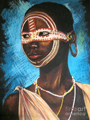 Drawing - Nairobi Girl by Yxia Olivares