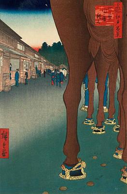 Edo Period Painting - Naito Shinjuku, Yotsuya by Utagawa Hiroshige