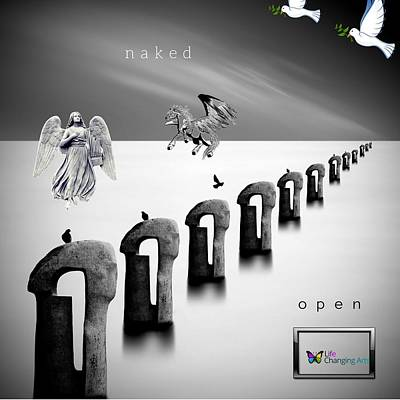Digital Art - Naked And Open by Steven Brier