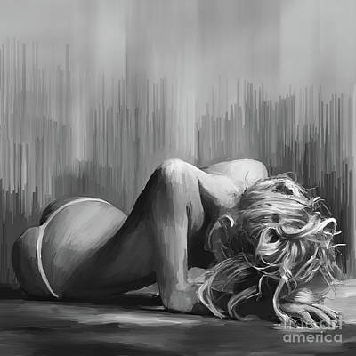 Woman Painting - Naked Art 540 by Gull G