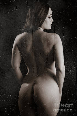 Washing Hair Photograph - Naked Backside by Jt PhotoDesign