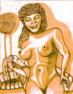 Naked Goddess Art Print by Richard Heyman