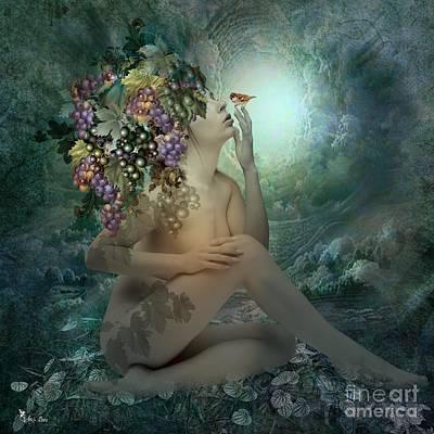 Digital Art - Naked Grape  by Ali Oppy
