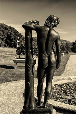 Bronze Horse Photograph - Naked by Martin Newman
