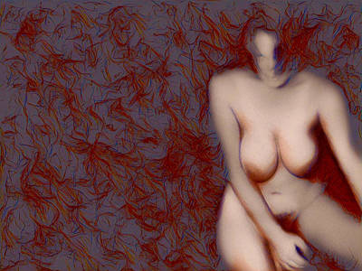 Digital Art - Naked Memories by James Barnes