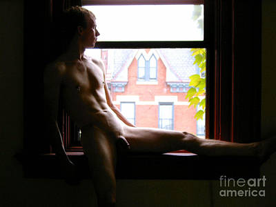 Photograph - Naked Model Jay Looking Out by Christopher Shellhammer