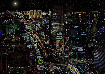 Photograph - Naked Moon Over The Strip by David Lee Thompson