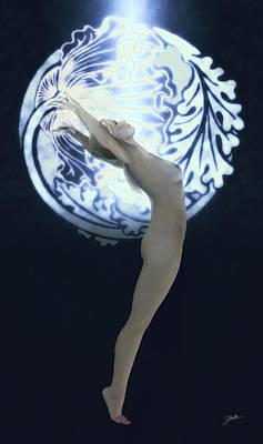 Fine Art Nude Digital Art - Naked Nymph Dancer by Joaquin Abella