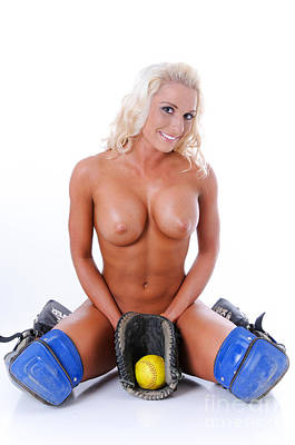 Provocative Photograph - Naked Softball by Jt PhotoDesign