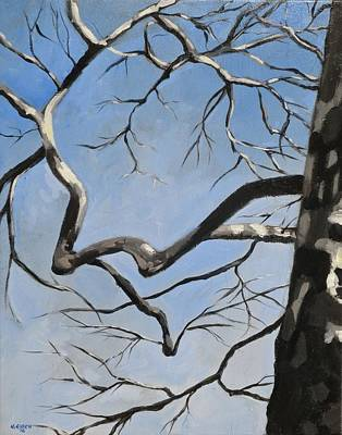 Painting - Naked Sycamore by Outre Art  Natalie Eisen