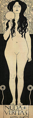 Drawing - Naked Truth by Gustav Klimt