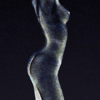 Mixed Media - Naked Woman Body 2 by Anton Kalinichev