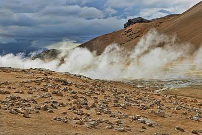 Photograph - Namafjall # 2 by Allen Beatty