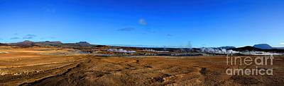 Photograph - Namafjall Geothermal Iceland Panorama by Chris Thaxter