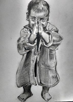 Namaste Art Print by Dushyant Kumar