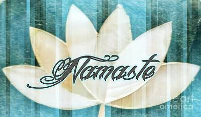 Digital Art - Namaste 1 by Rachel Hannah