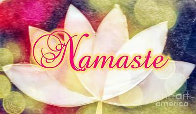 Digital Art - Namaste 3 by Rachel Hannah
