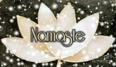 Digital Art - Namaste 4 by Rachel Hannah