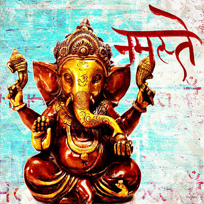 Mixed Media - Namaste Bhagavaan Ganesh by Lita Kelley