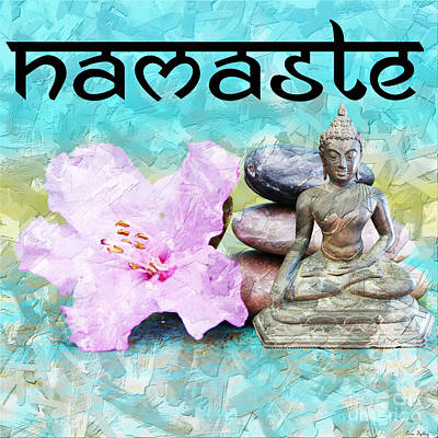 Mixed Media - Namaste Buddha by Lita Kelley