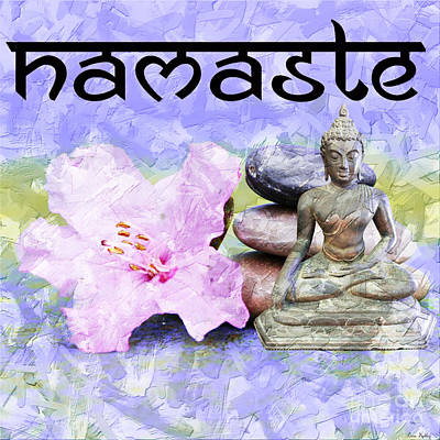 Mixed Media - Namaste Buddha. V3 by Lita Kelley