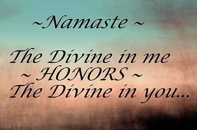 Photograph - Namaste by Buddy Scott