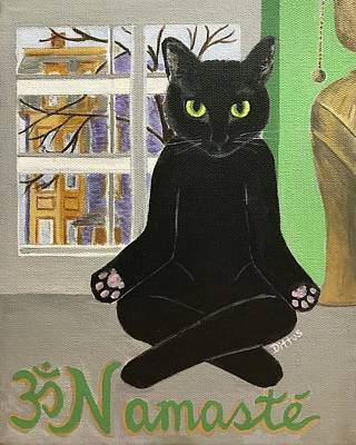 Painting - Namaste Cat by Chrissey Dittus