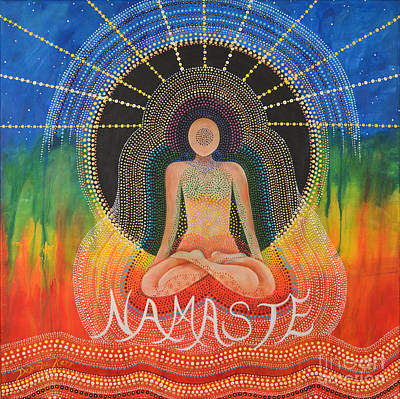 Painting - Namaste' by Deborha Kerr