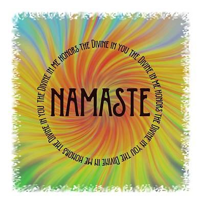 Namaste Divine And Honor Swirl Art Print