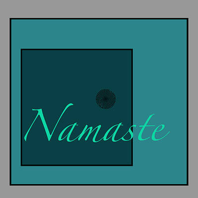 Digital Art - Namaste In Blue by Kandy Hurley