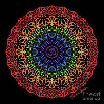 Digital Art - Namaste Mandala by Heather Schaefer