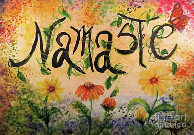 Nepali Painting - Namaste by Sandra Gallegos