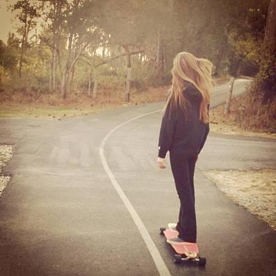 #namaste #skatesesh #skate #longboard Art Print