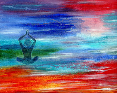 Transcend Painting - Namaste by The Art With A Heart By Charlotte Phillips
