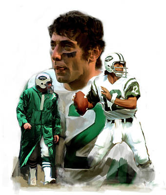 Football Paintings - Namath  Joe Namath by Iconic Images Art Gallery David Pucciarelli