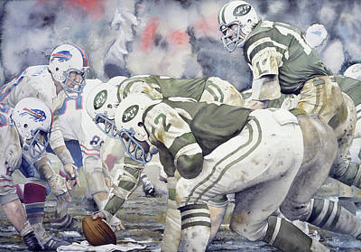 Jet Painting - Namath by Rich Marks